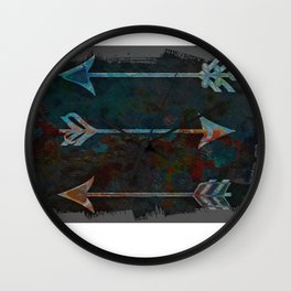 Arrow minded with texture Wall Clock