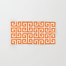 Orange and White Greek Key Hand & Bath Towel