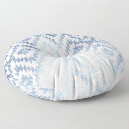 Indigo Ikat Print 3 Floor Pillow