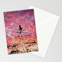 Leaf shadow at sunset Stationery Cards