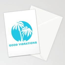 Good Vibrations one colour print Stationery Cards