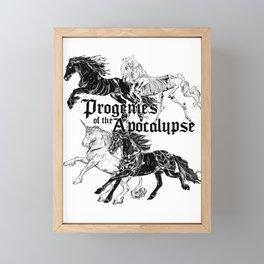Cavaliers de l'Apocalypse Framed Mini Art Print