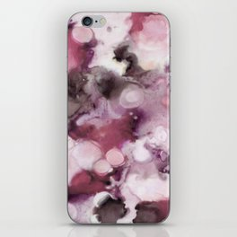 Organic Abstract in shades of plum iPhone Skin