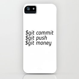 Git Money iPhone Case