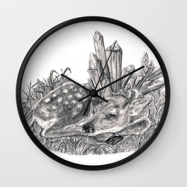 Crystal Fawn Wall Clock