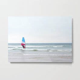 Windsurfer with Red White and Blue Metal Print
