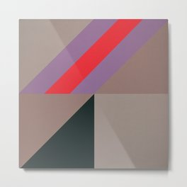 Modernist Geometric Graphic Art Metal Print