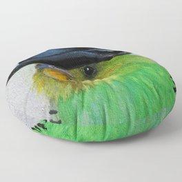 Parakeet Hat Parade #2 Roz Floor Pillow