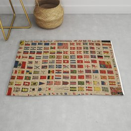Historical Flags of The World (1869) Rug
