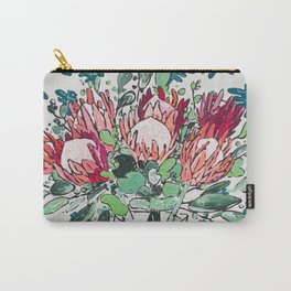 Bouquet of Proteas with Matisse Cutout Wallpaper Carry-All Pouch