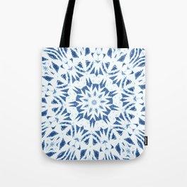 Snowflake Denim & White Tote Bag