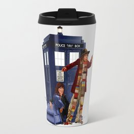 4th Doctor, Sarah Jane, K-9 and the TARDIS Travel Mug