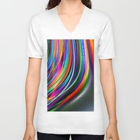 aurora V-neck T-shirts featuring Aurora by David  Gough