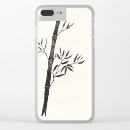 Black forest: Bamboo Clear iPhone Case