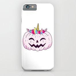Cute Unicorn Pumpkin Halloween Thanksgiving - Funny Halloween Costume iPhone Case