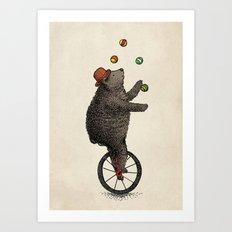 The Juggler (color option) Art Print