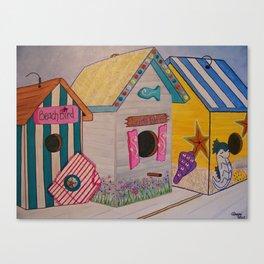 Birdhouse Row Canvas Print