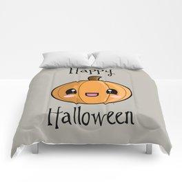 Happy Halloween Pumpkin Kawaii :) Comforters