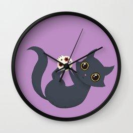 Kitty sugar skull Wall Clock
