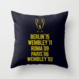 Barcelona Champions - Berlin 2015 Throw Pillow