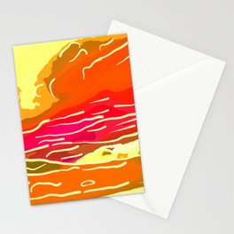 abstract style aurora borealis absstdi Stationery Cards