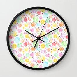 Rainbow fruits Wall Clock