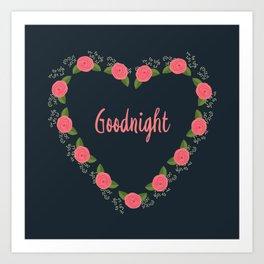 Goodnight Art Print