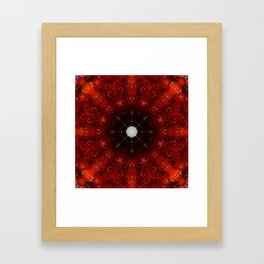 Festive Window Mandala Abstract Design Framed Art Print