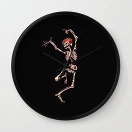 CALAVERA SUGAR SKULL SKELETON DANCING Wall Clock