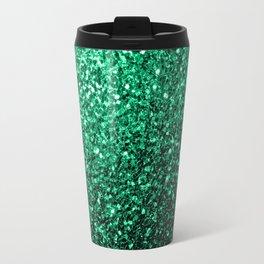 Beautiful Emerald Green glitter sparkles Travel Mug