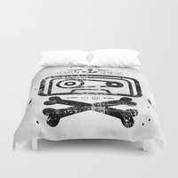 tape Duvet Covers featuring Pirate Tape by melted