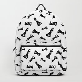 Black Chess Pieces Backpack