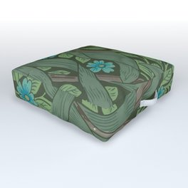 "William Morris ""Forget-Me-Nots"" (""Pimpernel"" detail) Outdoor Floor Cushion"