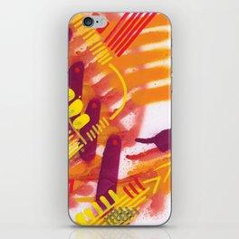Yellow on Orange iPhone Skin