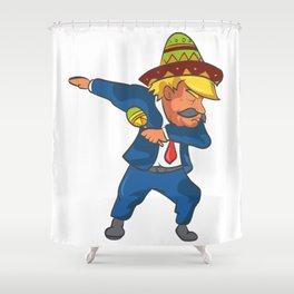 Trump Mexico Dab Dance USA America Donald Dabbing Shower Curtain