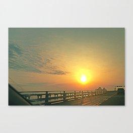 Ride Toward the Sun Canvas Print