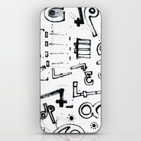 typo iPhone & iPod Skins featuring TYPO CHAOS by Michela Buttignol