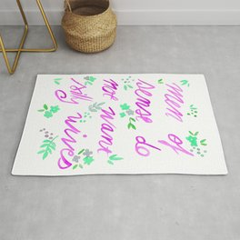 Men of sense do not want silly wives - Fuchsia  & Green Palette Rug