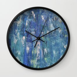 Abstract blue Wall Clock