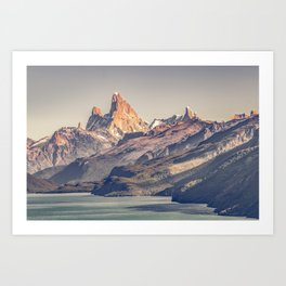 Fitz Roy and Poincenot Andes Mountains - Patagonia - Argentina Art Print