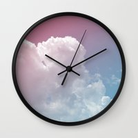 poetry Wall Clocks featuring Poetry by Galaxy Eyes