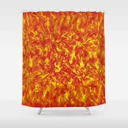 Ribbons of Fire Shower Curtain
