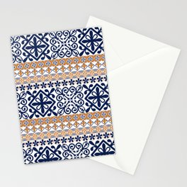Moroccan Pattern (Decorative Border) Stationery Cards