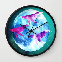NOCTURNE : ASTRAL WHALES Wall Clock