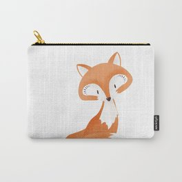 Cute fox kids illustration on white background Carry-All Pouch
