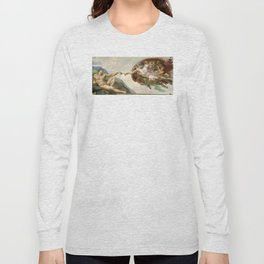 Michelangelo - Creation of Adam Long Sleeve T-shirt
