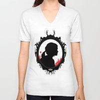 ellie goulding V-neck T-shirts featuring Ellie by Duke Dastardly