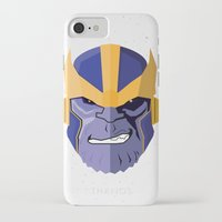 thanos iPhone & iPod Cases featuring Thanos by Micah Lanier