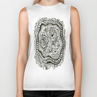 teeth Biker Tanks featuring Teeth by Travis Poston