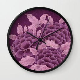 Korea traditional flower art moran 5 Wall Clock